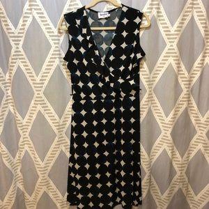 Leota Polka Dot Tank Wrap Dress